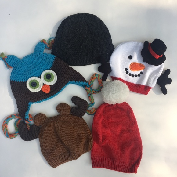 New So Dorable Baby Girl's Brown Knit MONKEY Beanie Hat Sz 0-6 Months